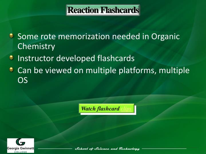 Reaction Flashcards