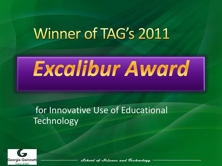 Winner of tag s 2011