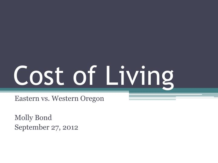 cost of living n.
