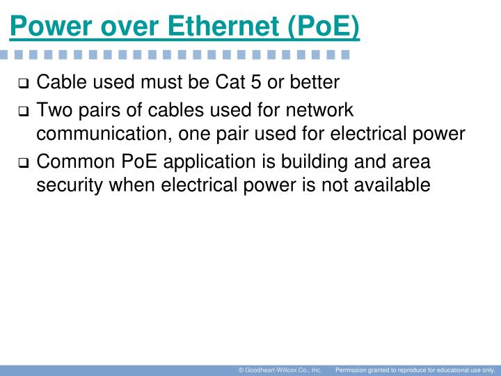 Power over Ethernet (PoE)