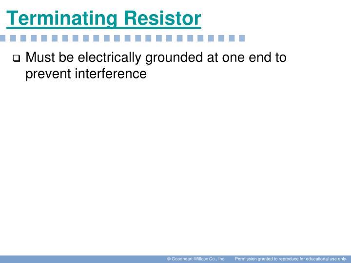 Terminating Resistor