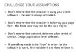 challenge your assumptions