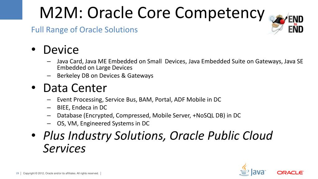 PPT - Oracle Java In M2M PowerPoint Presentation - ID:1615009
