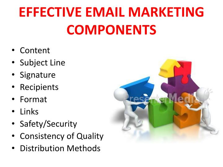 Effective email marketing components