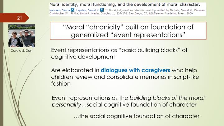 """Moral ""chronicity"" built on foundation of generalized ""event representations"""