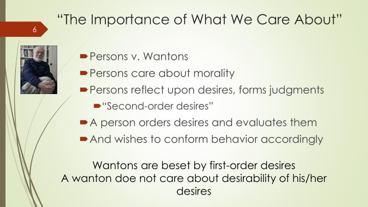 """The Importance of What We Care About"""
