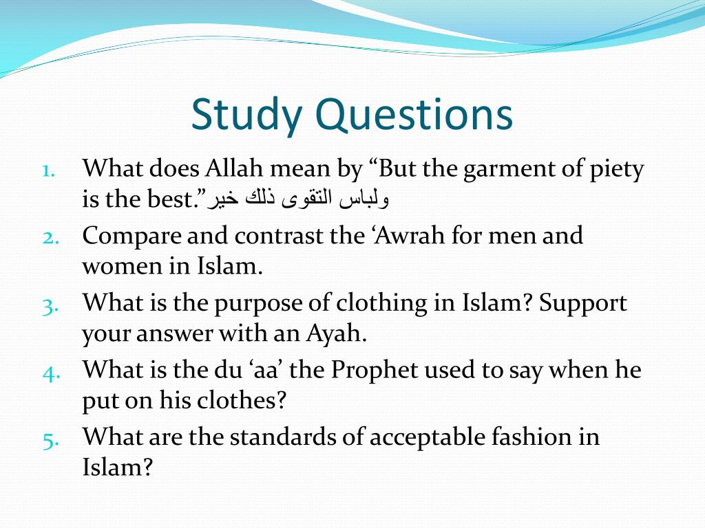 PPT - The Islamic Etiquette of Clothing PowerPoint Presentation - ID