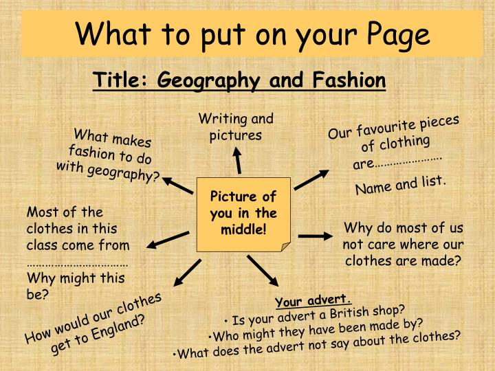 What to put on your Page