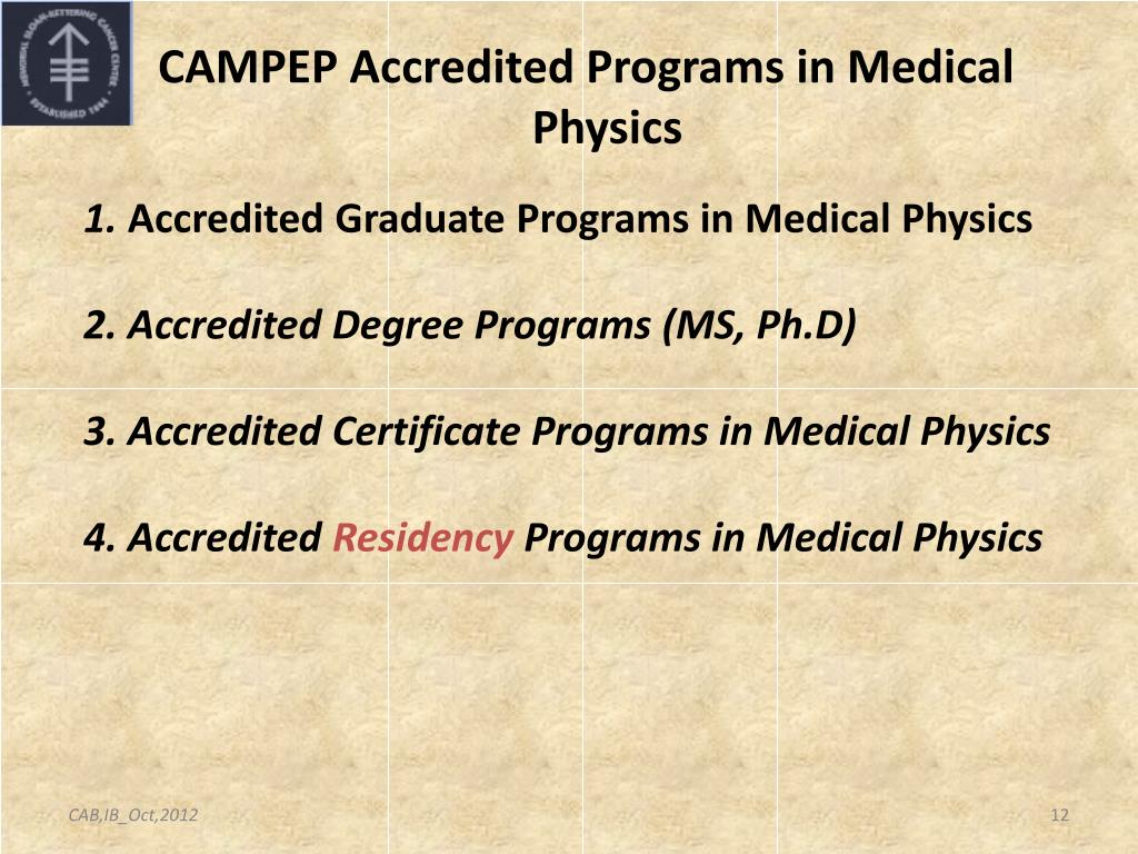 Ppt Medical Physics Education Programs Us And Latin