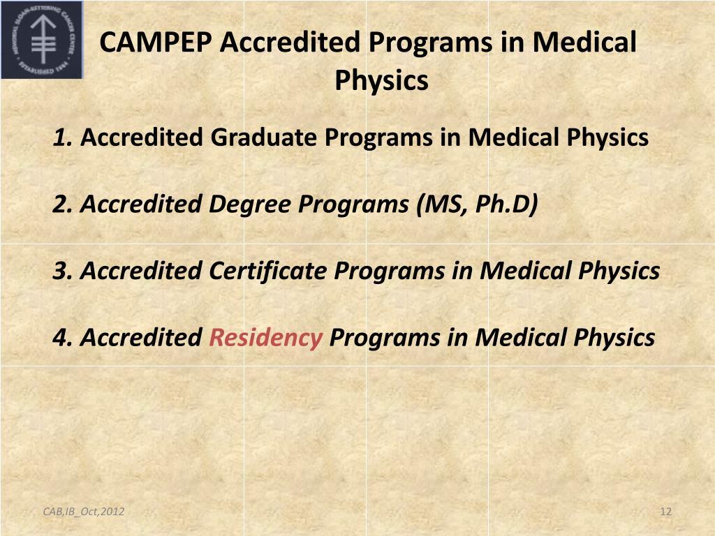 PPT - Medical Physics Education programs: US and Latin