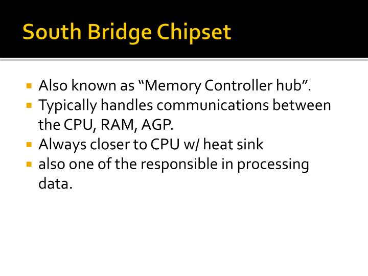 South Bridge Chipset