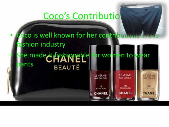 Coco's Contribution