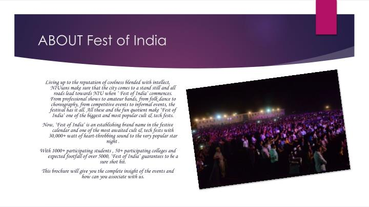 ABOUT Fest of India