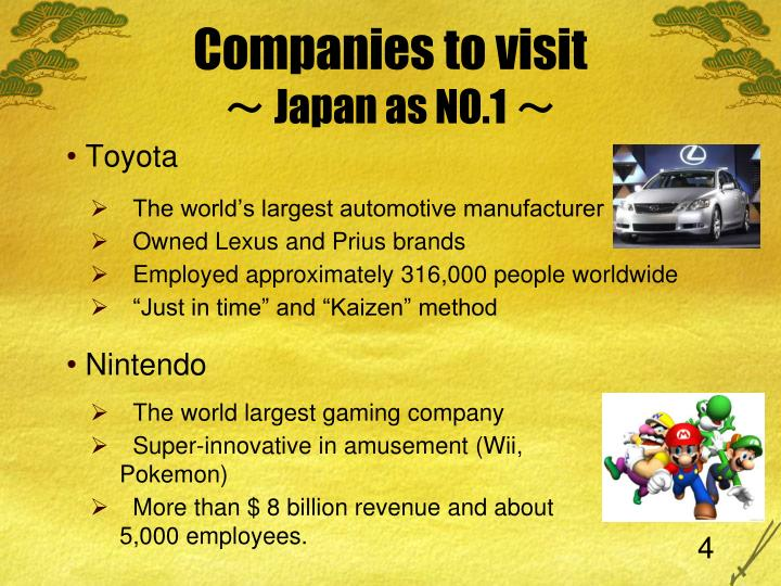 Companies to visit