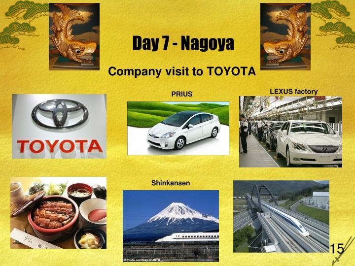 Day 7 - Nagoya