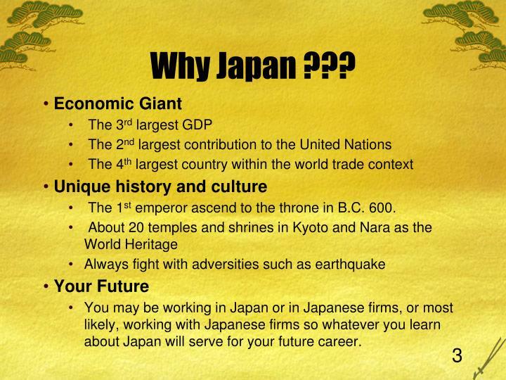 Why japan