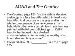 msnd and the courtier