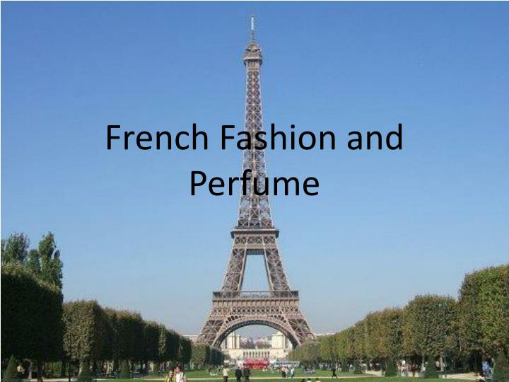 french fashion and perfume n.