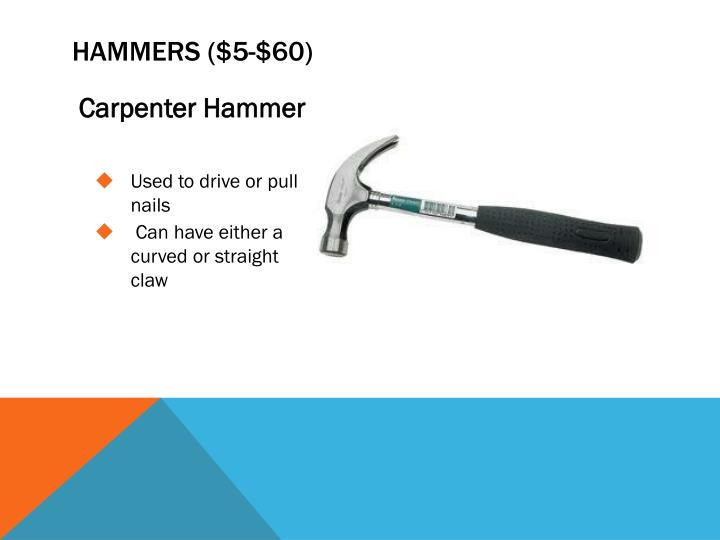 Hammers ($5-$60)