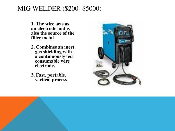 MIG Welder ($200- $5000)