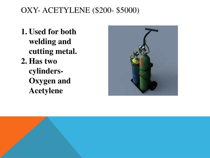 Oxy- Acetylene ($200- $5000)