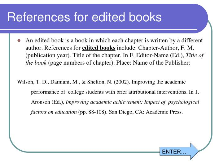 References for edited books
