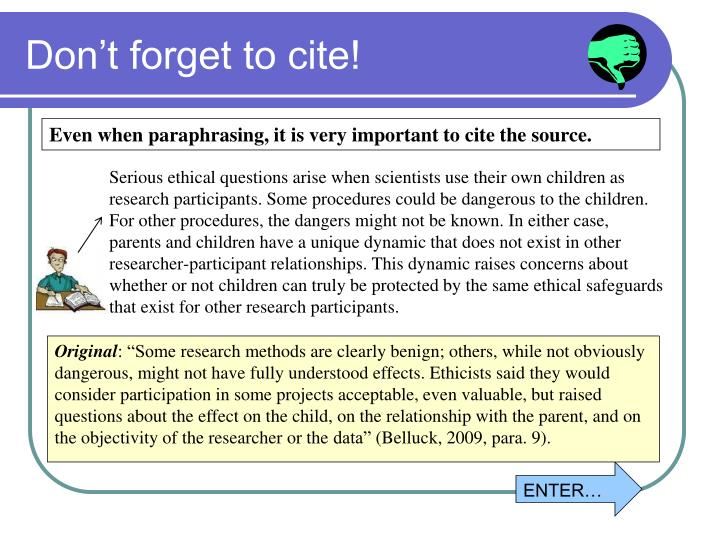 Don't forget to cite!