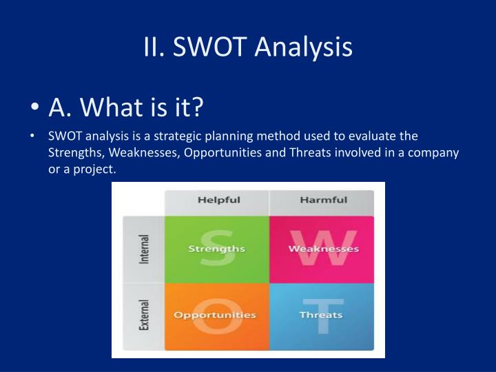 an analysis of the strengths weaknesses opportunities and threats swot of the volkswagen automobile  Object-based image analysis: strengths, weaknesses, opportunities and threats (swot.