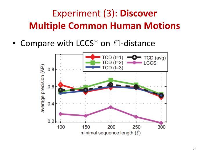 Experiment (3):