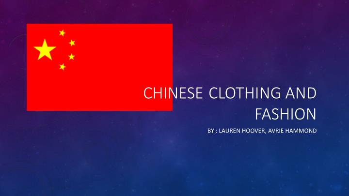 chinese clothing and fashion n.