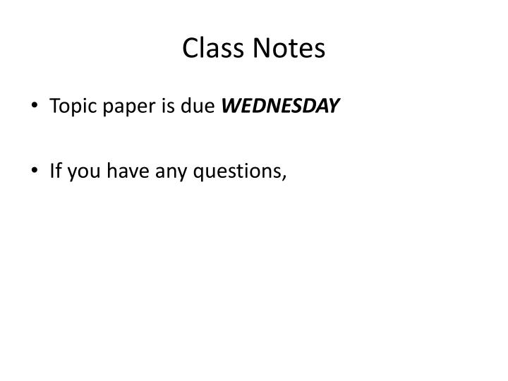 Class notes1