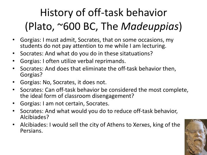 History of off-task behavior