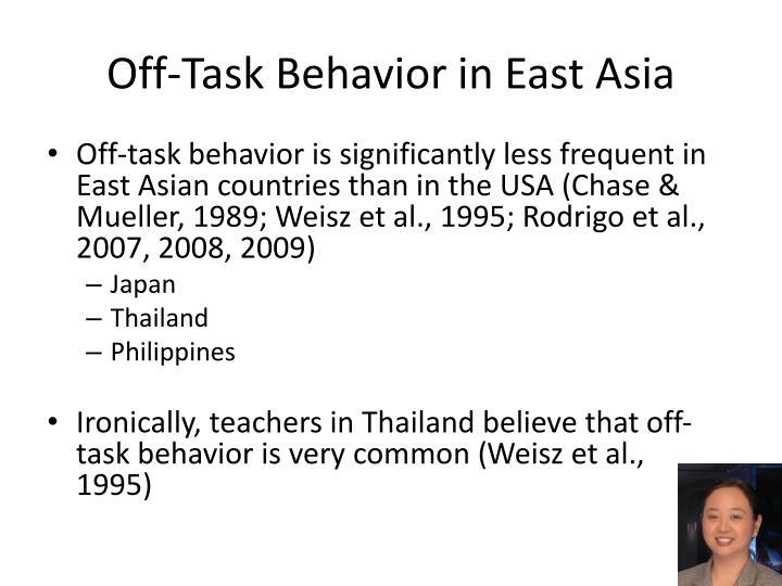 Off-Task Behavior in East Asia