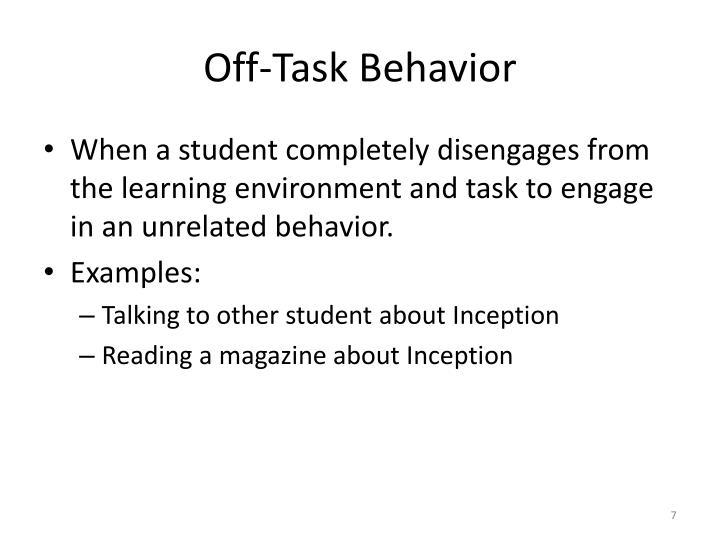 Off-Task Behavior