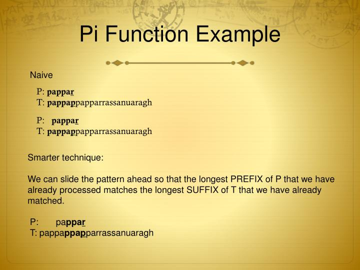 Pi Function Example