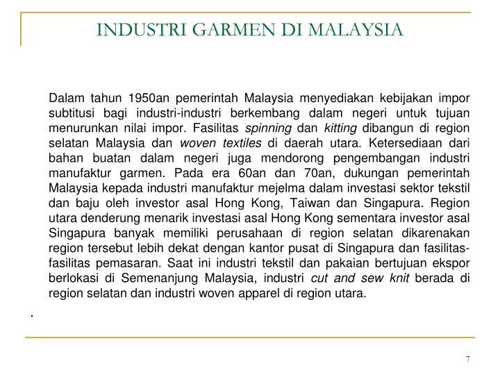INDUSTRI GARMEN DI MALAYSIA