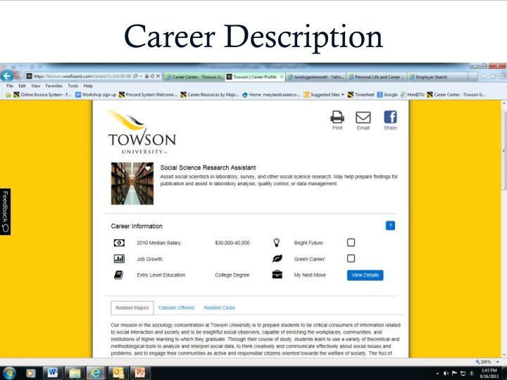 Career Description