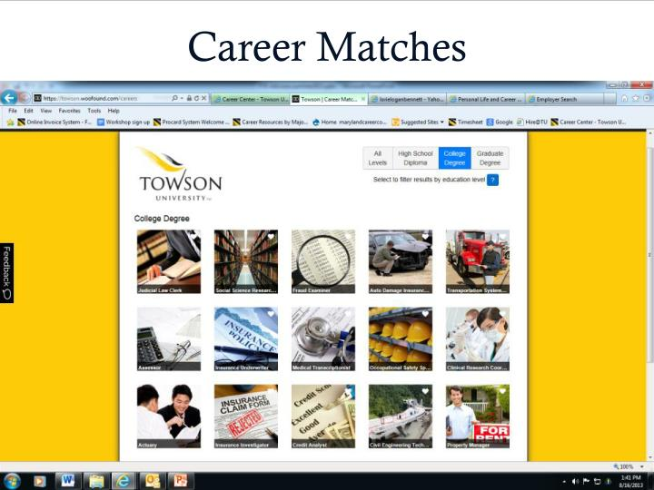 Career Matches