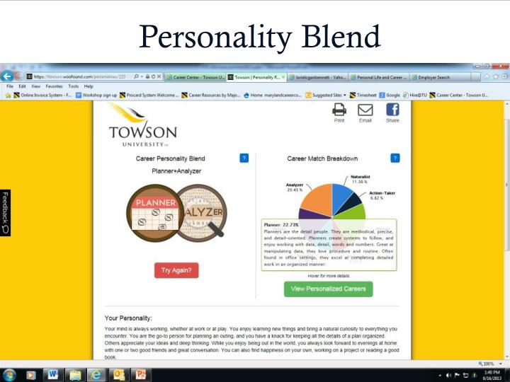 Personality Blend