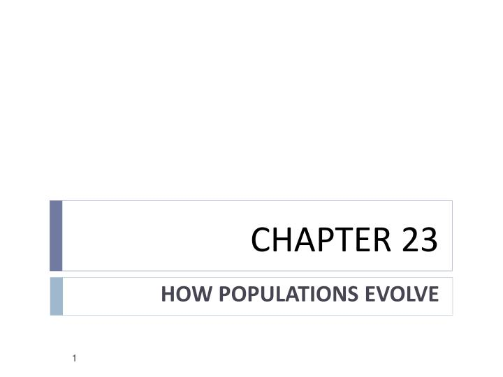 biology study guide how populations evolve A population of bacteria sees an increase in the number of bacteria resistant to a certain anti- biotic over a number of generations this is known as _____________.