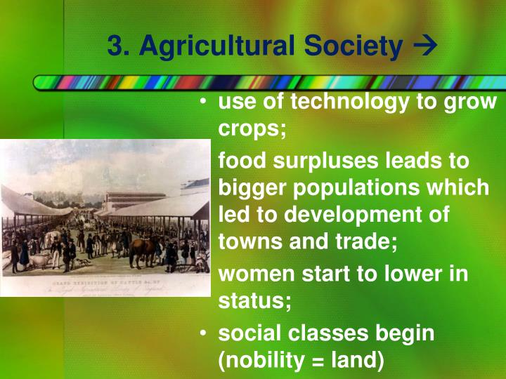 3. Agricultural Society