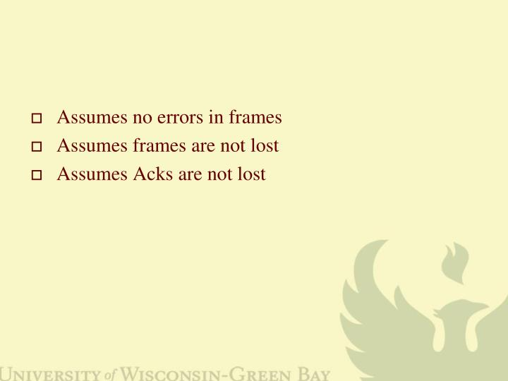 Assumes no errors in frames