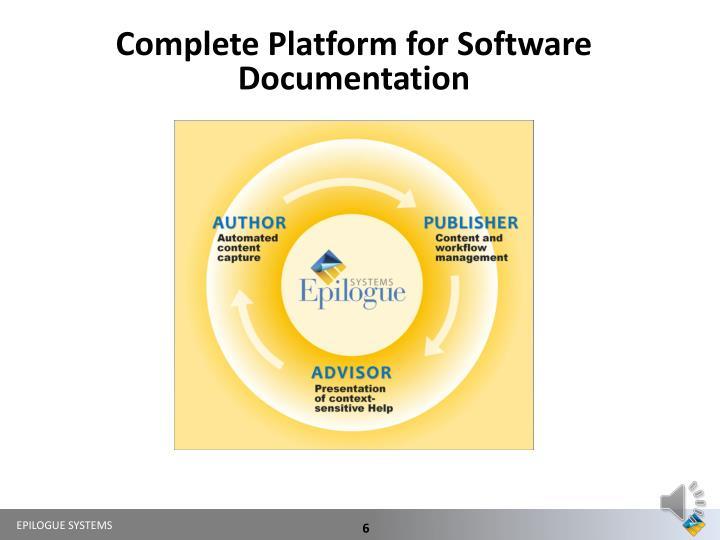 Complete Platform for Software Documentation