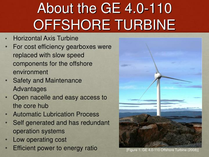 About the GE 4.0-110 OFFSHORE TURBINE