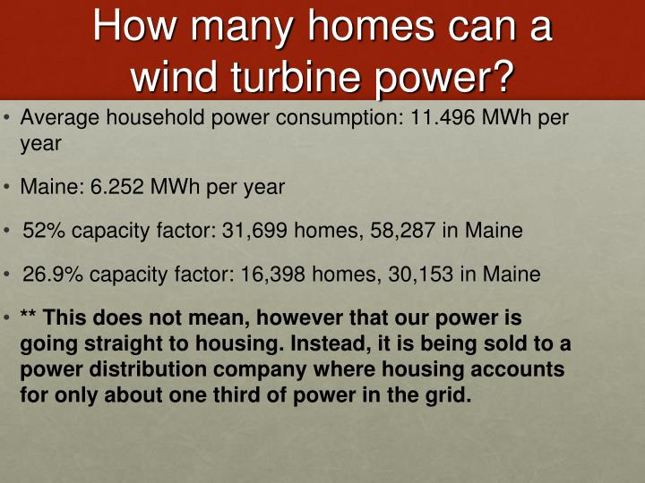 How many homes can a wind turbine power?