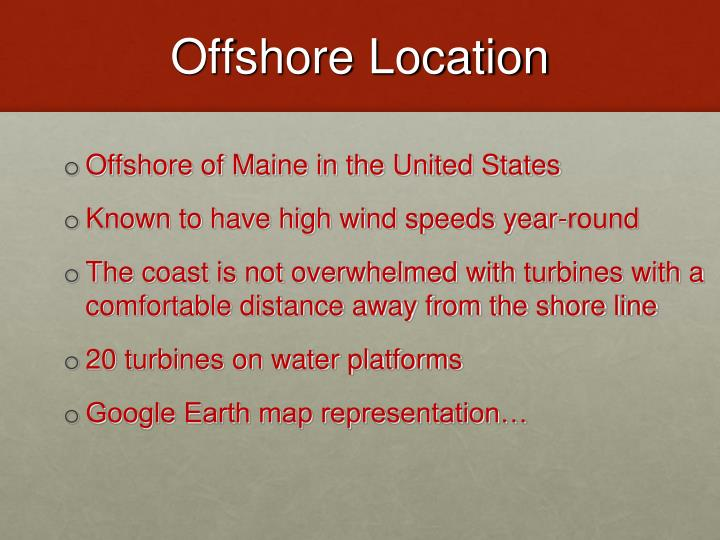 Offshore Location