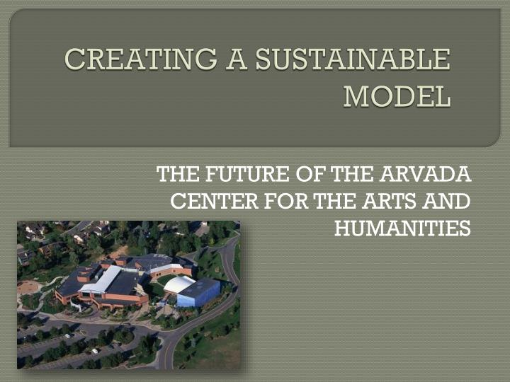 creating a sustainable model n.
