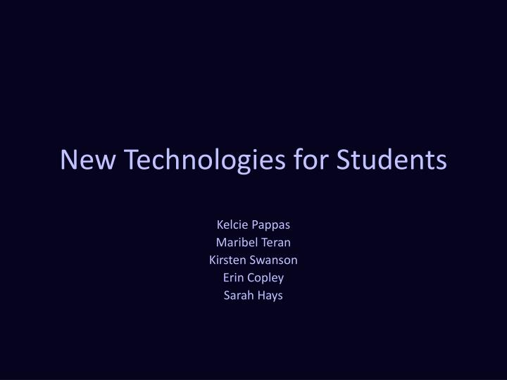 new technologies for students n.