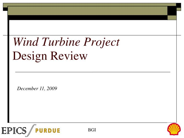 wind turbine project design review n.